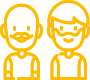 Yellow 2 guys logo png